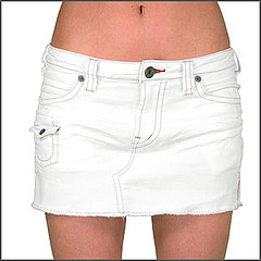 Short Womens White